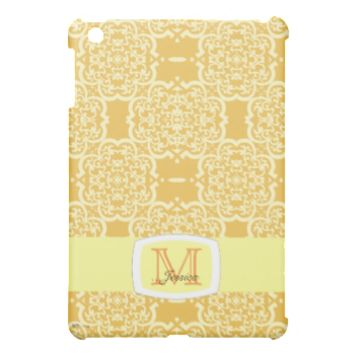 Quatrefoil Damask (Yellow) Cover For The iPad Mini