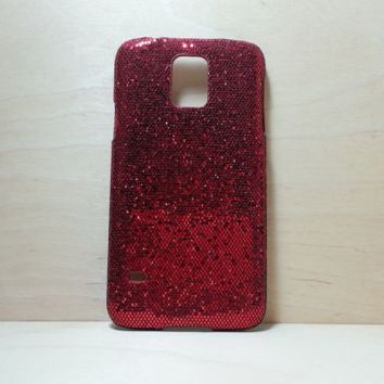 Glitter Case for Samsung Galaxy S5 - Red