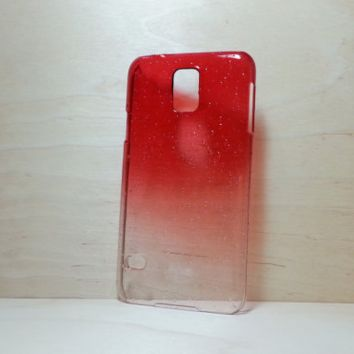 3D Water Droplets Hard Plastic Case for Samsung Galaxy S5 - Red