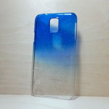 3D Water Droplets Hard Plastic Case for Samsung Galaxy S5 - Dark Blue