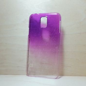 3D Water Droplets Hard Plastic Case for Samsung Galaxy S5 - Purple