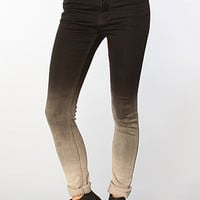 The Second Skin Hi-Waist Skinny Jean in Faded Black