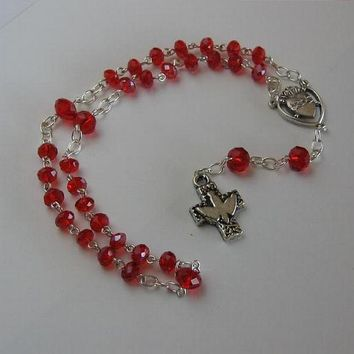Ruby Protestant birthstone Rosary for July