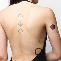 Going In Circles Temporary Tattoo Pack (Set of 12)