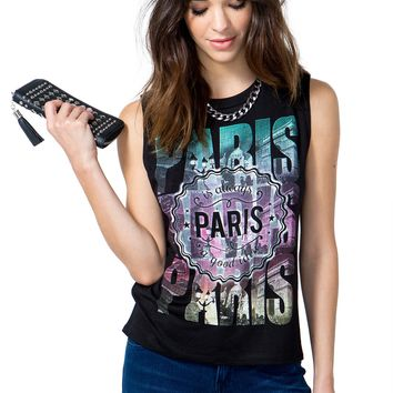 Colorful Paris Muscle Tee