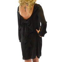 Whitworth Carriage Black Bow Back Dress