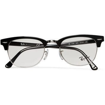 Ray-Ban - Clubmaster Acetate And Metal Optical Glasses   MR PORTER
