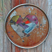 Pieced Heart- Industrial Wall Decor