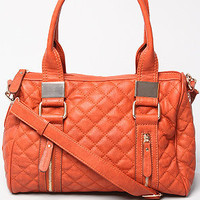 The Samantha Quilted Shoulder Bag in Sienna