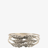 Etched Leaves Bangle Set