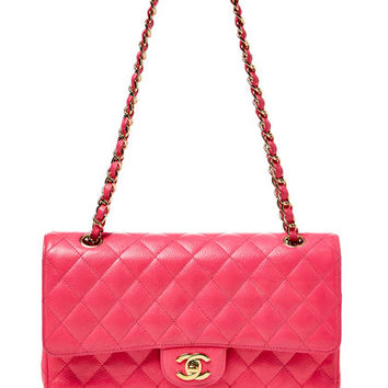 Hot Pink Caviar Medium Double Flap Bag by Chanel at Gilt