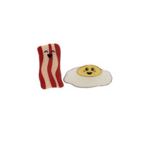 Leanna Lin's Wonderland — Bacon and Egg Earrings by Unicorn Crafts