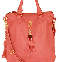 Pink Leather Tassel Satchel (SOLD OUT)