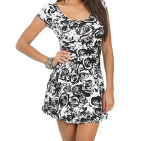 Rose Print Swing Dress | Shop Dresses at Wet Seal