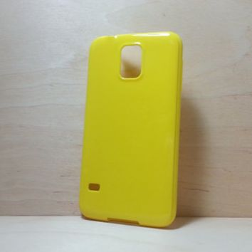 Candy Color TPU Soft Silicone case for Samsung Galaxy S5 - Yellow