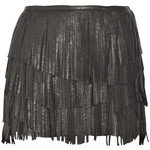 Isabel Marant Katell Fringed Leather Mini Skirt