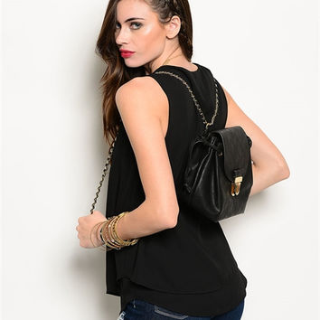 Dana Back Pack- Black - One
