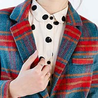 Glamorous Plaid Overcoat - Urban Outfitters