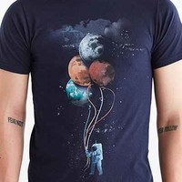 Design By Humans The Spaceman's Trip Tee- Navy