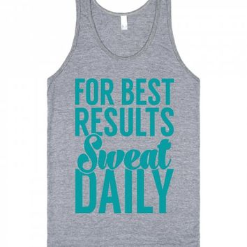 For Best Results-Unisex Athletic Grey Tank