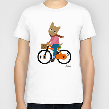Sam's Cycling Kids T-Shirt by BATKEI