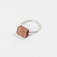 Chunky Box Ring 2 - 7.5 / Sterling Silver