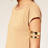 ASOS Wraparound Chunky Arm Cuff at asos.com