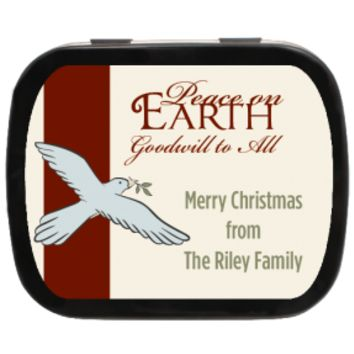 Dove Christmas Personalized Mint Tins, great for Stocking Stuffer, Holiday Gift, Gift Ideas, Party Favors