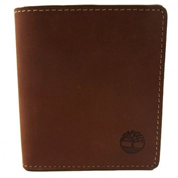 Timberland Tan Pull-Up Square Wallet