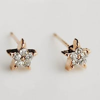 Star Flower Rhinestone Earrings