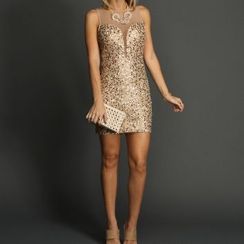Champagne Ultimate Sequin Dress