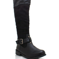 buckled-riding-boots BLACK BROWN CHESTNUT - GoJane.com