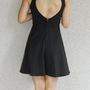 'Bella' Open Heart Back Dress (Black)