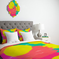 Rebecca Allen Oh Happy Day Duvet Cover Luxe TWIN Sample Sale - Luxe Duvet Cover / Twin/XL / Duvet Cover Only