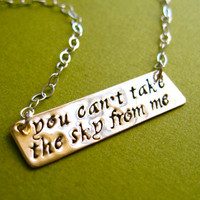Firefly Necklace- You can&#x27;t take the sky from me -Brass and Sterling Silver Necklace