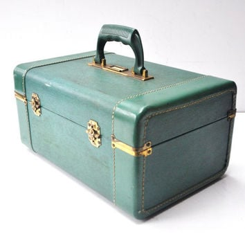 Vintage Sea Foam Green Train Case