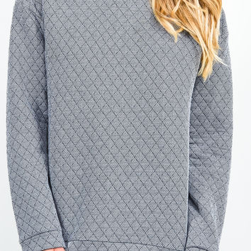 Black & White Quilted Sweater