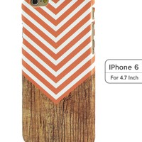 Sky2light,iphone 6 Cover,new Iphone 6 Case,pink Chevron Iphone 6,wood Chevron Image Iphone 6,4.7 Inch Iphone 6 Cover