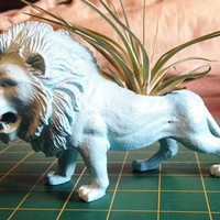 Up-cycled Lion Planter