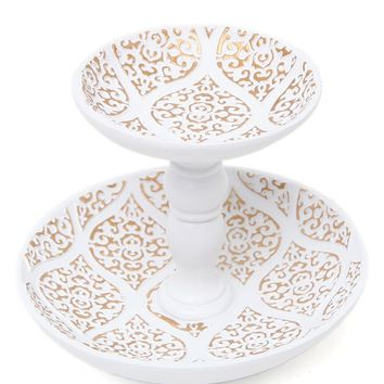 Tray Chic Jaipur Ring Holder  Womens Scarves  White  One