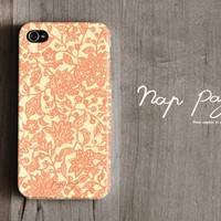 Apple iphone case for iphone iphone 4 iphone 4s iphone 3Gs : Abstract orange flower