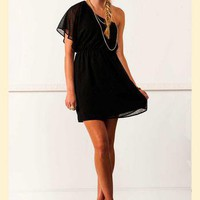 Glitter Me This One Shoulder Dress