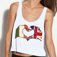 1D Inspired UK/Irish Love Heart Shirt