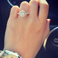 Genuine Sterling Silver Halo Ring -