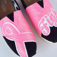 Custom TOMS or BOBS - Breast Cancer FIGHT For a Cure