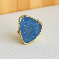 Granted Wish Druzy Ring [3173] - $14.00 : Vintage Inspired Clothing & Affordable Summer Dresses, deloom | Modern. Vintage. Crafted.