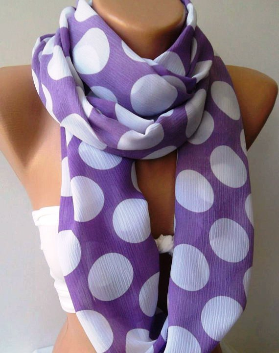 Super Loop  Infinity Scarf Loop Scarf Circle Scarf - Elegant - It made with good quality chiffon fabric.