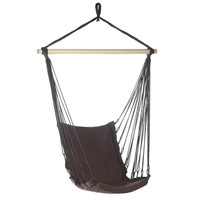 Espresso Cotton Padded Swing Chair - Default