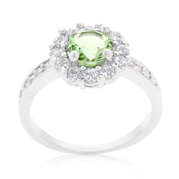 Bella Birthstone Engagement Ring In Green (size: 08) – Bella Birthstone Engagement Ring In Green…