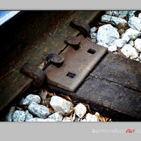 Digital Photography, Track Tracks Photo, Industrial Wall Decor Train Themed Decor